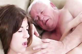 Hard-core elder youthful intercourse with messy granddad