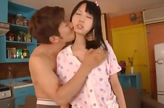 Chinese brown-haired schollgirl gets drilled