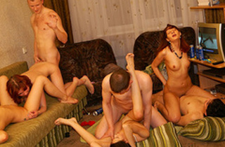 Glorious and molten college girl soiree fuck-a-thon movie